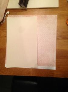 En bit Sticky Back Canvas och ett papper från Inkidos Autumn Friendship kollektion.
